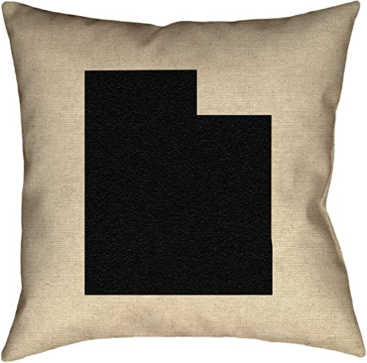 ArtVerse Katelyn Smith 36 x 36 Floor Double Sided Print with Concealed Zipper /& Insert Kentucky Love Pillow