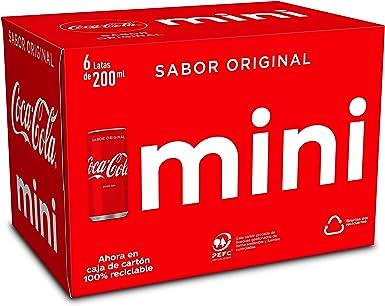 Coca-Cola Sabor Original Mini Lata - 200 ml (Pack de 6): Amazon.es ...