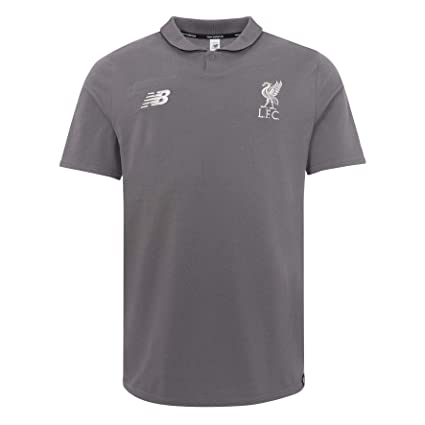 ea6c9b219e534 Amazon.com : New Balance Liverpool FC Grey Short Sleeve Mens Leisure Polo  Shirt 2018/2019 LFC Official Store : Sports & Outdoors