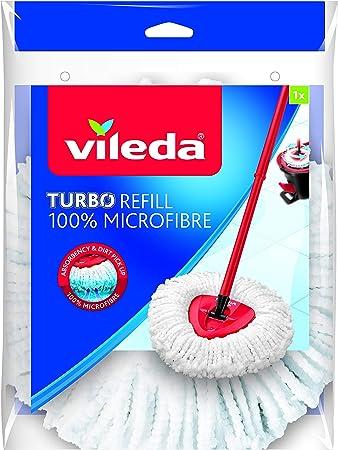 Amazon Com Vileda Easywring And Clean Turbo Classic Microfibre Mop Refill Head Multi Colour Kitchen Dining