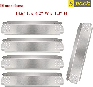 BBQ-Element Grill Heat Plate Shield for Nexgrill 720-0830H, 720-0888N, 720-0888, 720-0864, 720-0896B, Stainless Steel Gas Grill Heat Tent, Burner Cover, Flame Tamer for Members Mark 720-0882D.