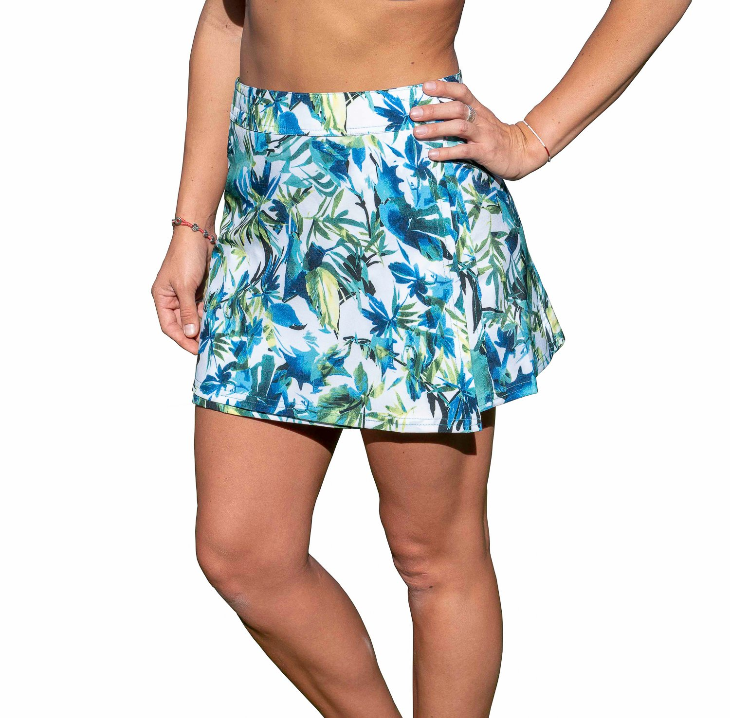 RipSkirt Hawaii - Length 1 - Quick Wrap Athletic Cover-up That Multitasks as The Perfect Travel/Summer Skirt - Big Beach Blue