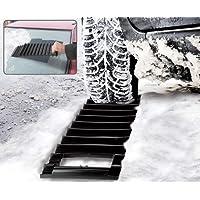 2 IN 1 CAR VAN ICE SCRAPER & TRACTION MAT EMERGENCY SNOW ICE MUD SAND RESCUE MAT