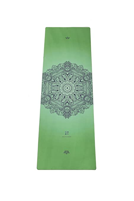Activana Hot Yoga / Bikram Yoga Mat. 2 in 1 Towel + Mat with Non-slip Grip - Also Perfect for Ashtanga and Pilates. Non-fade and Eco-friendly. Comes ...