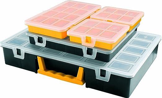 97 opinioni per Art Plast 3060 Kit porta minuteria in plastica, Nero/Giallo/Trasparente