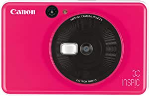 Canon CV-123A iNSPiC [C] Series Instant Camera Printer, Bubble Gum Pink