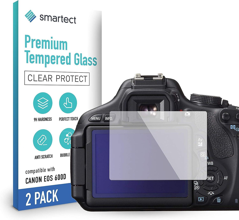 Smartect Schutzglas Kompatibel Mit Canon Eos 600d 2 Stück Tempered Glass Mit 9h Härte Blasenfreie Schutzfolie Anti Kratzer Displayschutzfolie Elektronik