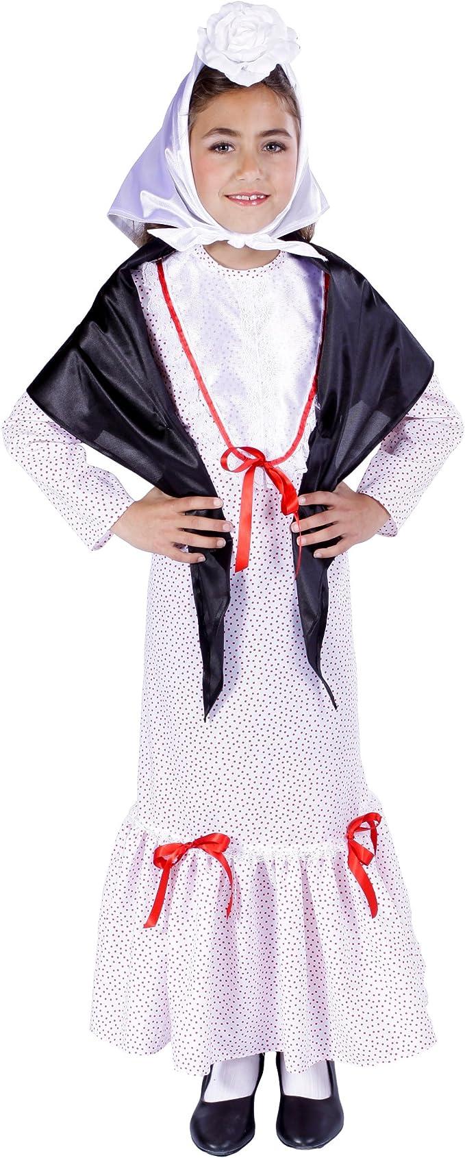 Disfraz de madrileña chulapa niña - 9-11 años: Amazon.es: Juguetes ...