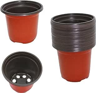"Gard. Depot Pack of 24 Plastic Seed Starter Pots, Seed Starting Planters (Medium 4.5"" Diameter)"