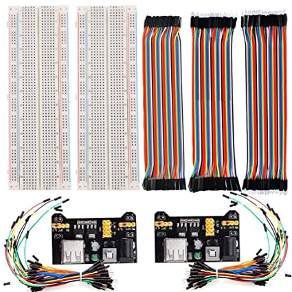 amazon com lgdehome 2pcs 830 points solderless plug in experiment rh amazon com Proper Wiring of a Plug Wall Plug Wiring