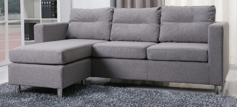 Surprising Detroit Convertible Sectional Sofa And Ottoman Color Ash Dailytribune Chair Design For Home Dailytribuneorg