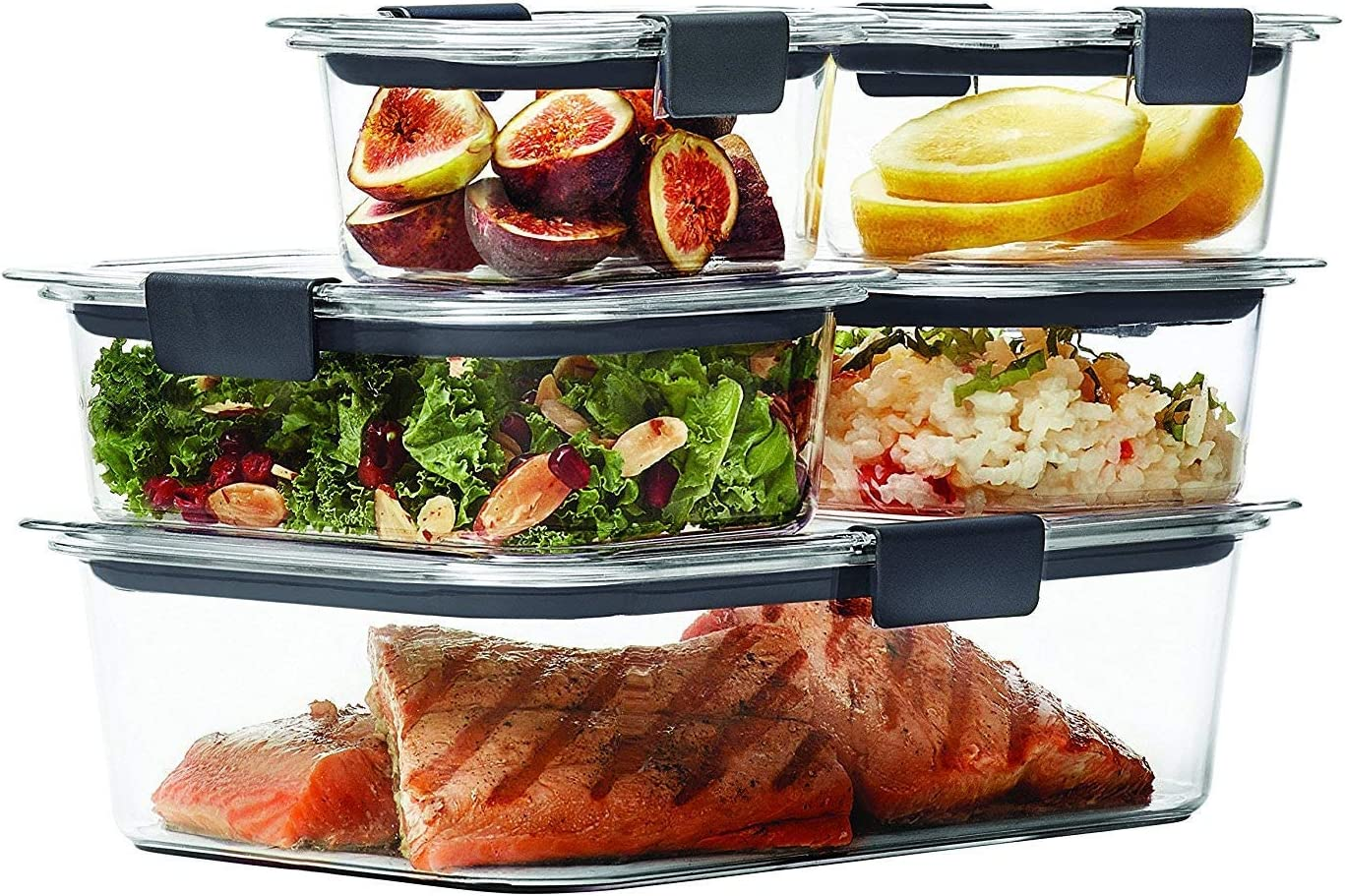 Brilliance Food Storage Container, Clear 1976520, 2 Pack (10-Piece Set)