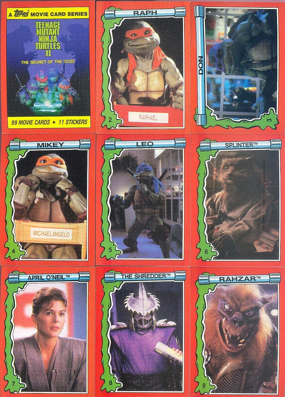 TEENAGE MUTANT NINJA TURTLES MOVIE 2 1991 TOPPS BASE CARD ...