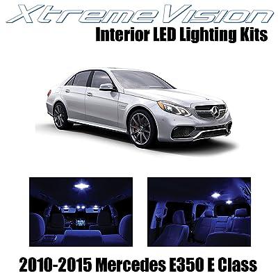 Xtremevision Interior LED for Mercedes E350 E550 E63 AMG E Class Sedan 2010-2015 (7 Pieces) Blue Interior LED Kit + Installation Tool Tool: Automotive