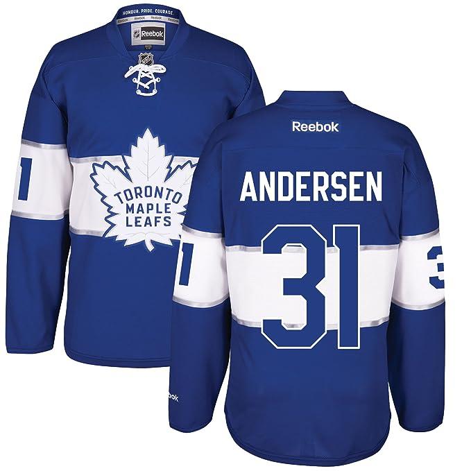sale retailer 436f4 c3bca Frederik Andersen Toronto Maple Leafs 2017 Centennial Classic Premier Jersey