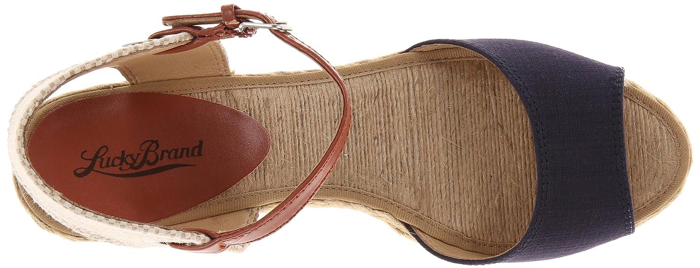 Lucky M Brand Woherren Kyndra Wedge Sandal,MGoldccan Blau,10 M Lucky US cf5658
