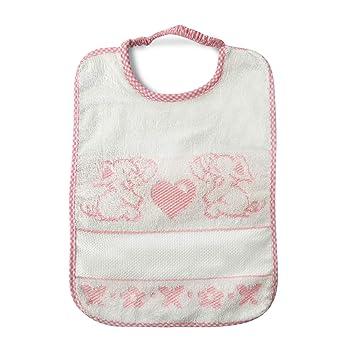 Babero Bebé elefante cierre con goma elástica - 100% algodón - 24 x 28 cm, rosa: Amazon.es: Bricolaje y herramientas
