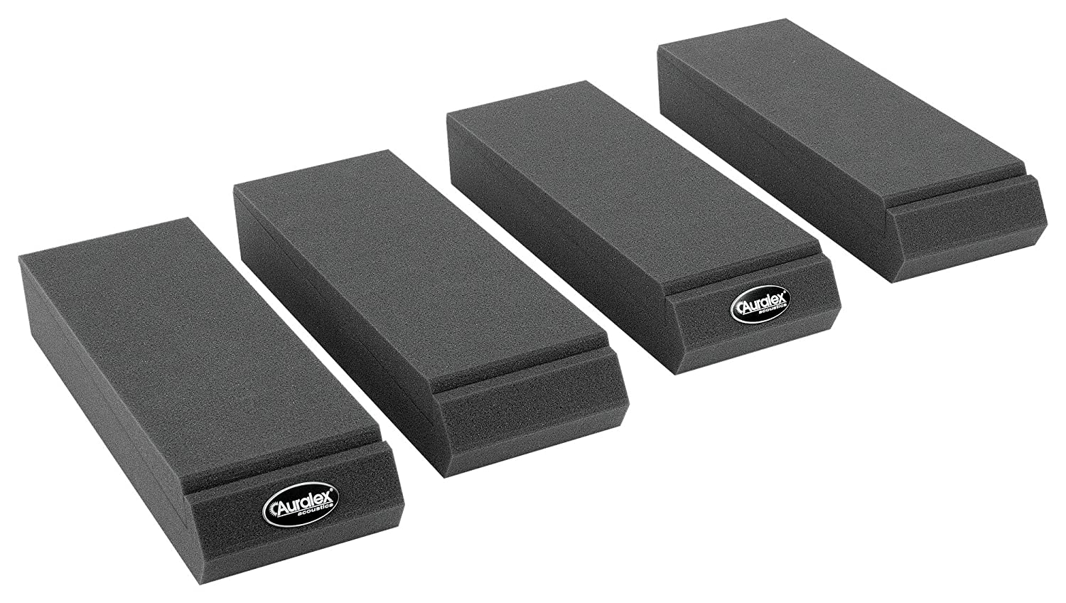 Auralex Acoustics MOPAD MOPAD Monitor Acoustic Isolation Pads (1 Pair), Charcoal