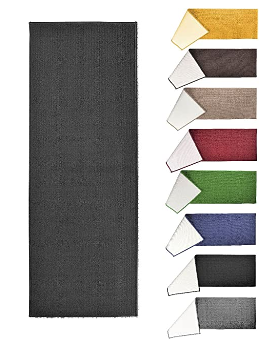 95c9241eb7d Image Unavailable. Image not available for. Color  Solid Fashion Floor Runner  Rug - Non-Skid Home