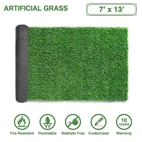 Amazon.com: LITA Realistic Deluxe Artificial Grass Synthetic Thick ...