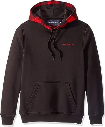 Calvin Klein Mens 41Q9021 Fleece Hoodie Logo Pop Over Sweatshirt Sweatshirt
