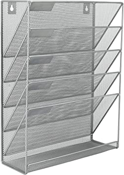 Mesh wall literature holder file Silver OFFICE ORGANIZER FREE  DELIVERY