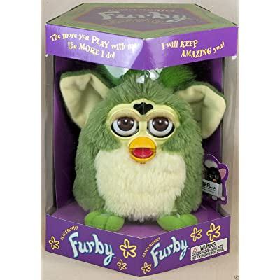 Green Furby with Green Eyes and Feet in Spanish Box: Toys & Games