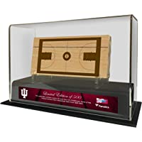$123 » Indiana Hoosiers Historic 1928-1960 Sublimated Display Case with a Piece of Engraved Game-Used Court - Other College Game Used Items