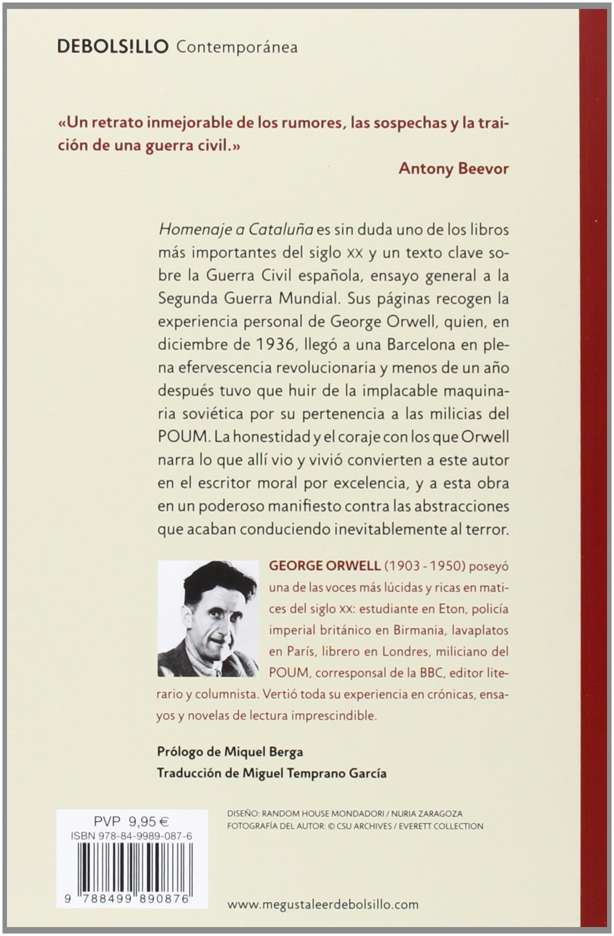 Homenaje a Cataluña CONTEMPORANEA, Band 26201: Amazon.de: George Orwell,  Miguel Temprano García: Fremdsprachige Bücher