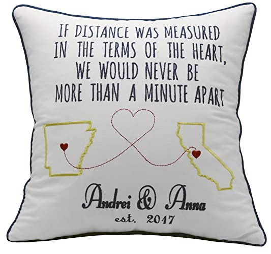 yugtex pillowcases long distance boyfriend christmas gifts personalized husband gift fiance military deployment for husband wife