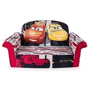 Marshmallow Furniture, Children's 2 in 1 Flip Open Foam Sofa, Disney Pixar Cars 3, by Spin Master