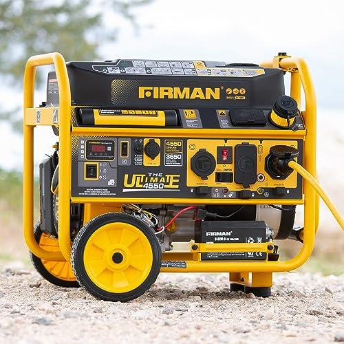 Firman P03612 4550 3650 Watt 120 240V Remote Start Gas Portable Generator cETL Certified, Black