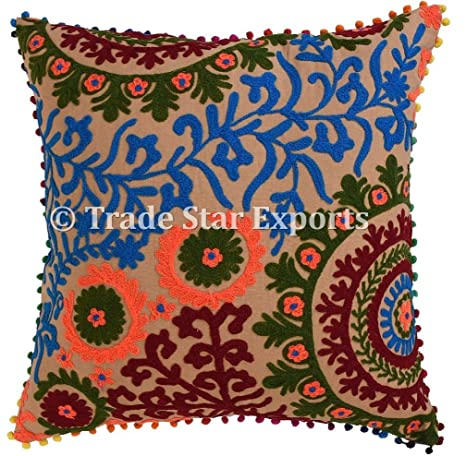 TRADE STAR EXPORTS Bordados de la India Suzani Funda para ...