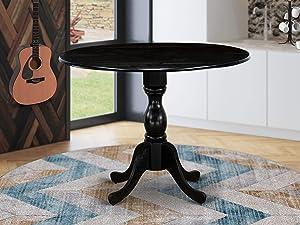 East West Furniture DMT-ABK-TP Dining Table, 42
