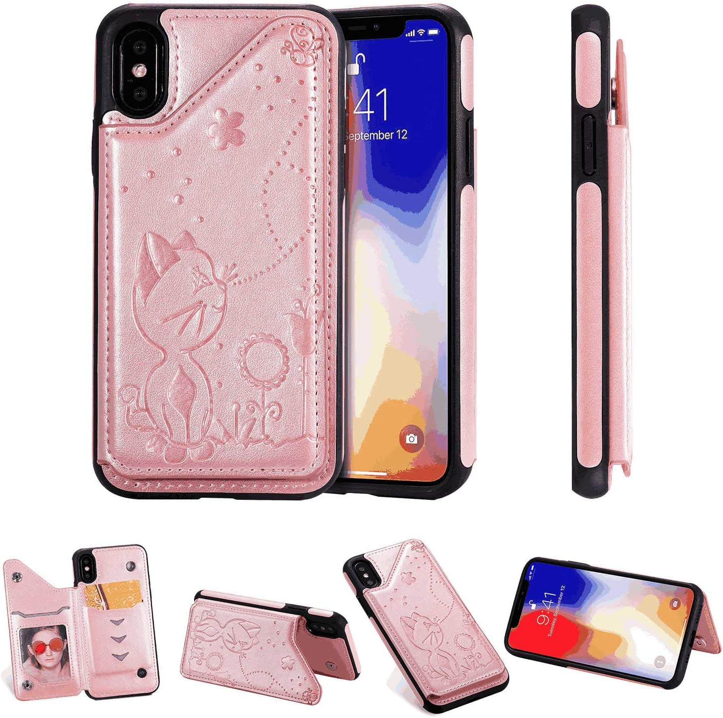 Flip Cover fit for Samsung Galaxy Note9 Business Gifts Simple-Style Leather Case for Samsung Galaxy Note9
