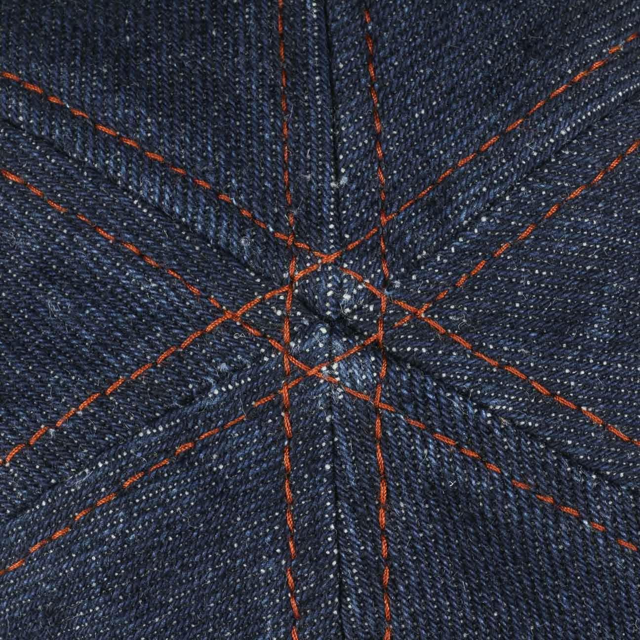 Stetson Coppola Texas Denim Duckbill Uomo Fodera Primavera//Estate Made in The EU Cotton cap Cappello Piatto con Visiera