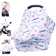 Car Seat Covers for Babies - Nursing Cover Carseat Canopy, Multi-use Breastfeeding Covers, Girls and Boys Baby Shower Gifts