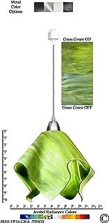 product image for Jezebel Radiance JRNI-FP16-GRA-TRNI Nickel Flame Track Light, Large, Grass Green