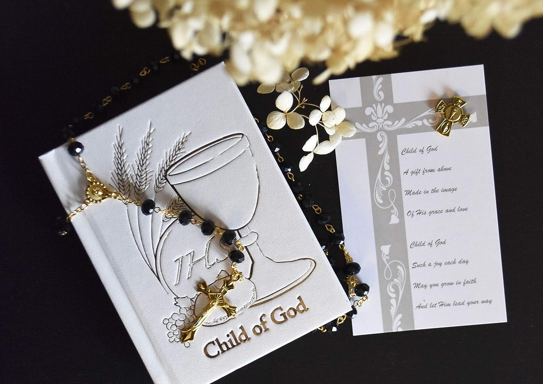 1st Holy Communion Rosary Prayer Book Set Communion Gift Boy Communion Prayers