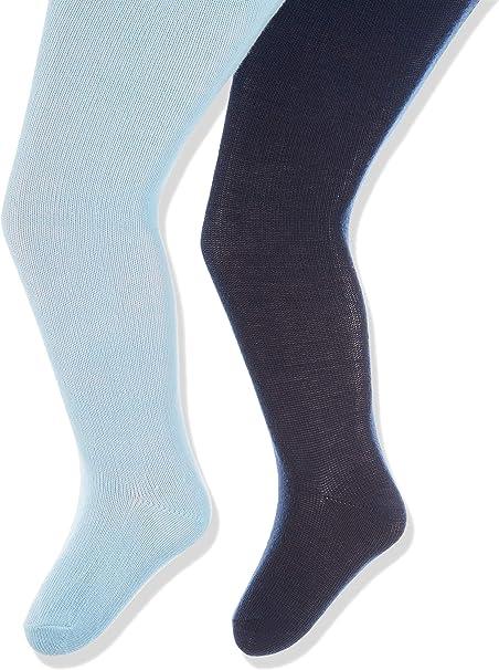 Lot de 2 B/éb/é Fille Playshoes Elastisch Uni Mit Komfortbund Collants,