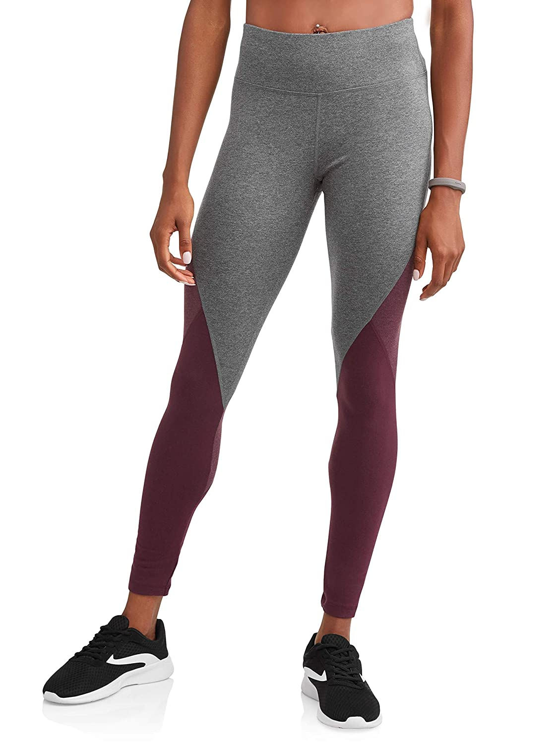 Metropolis Burgundy Athletic Works Women's Dri More Core Yoga Ankle Leggings