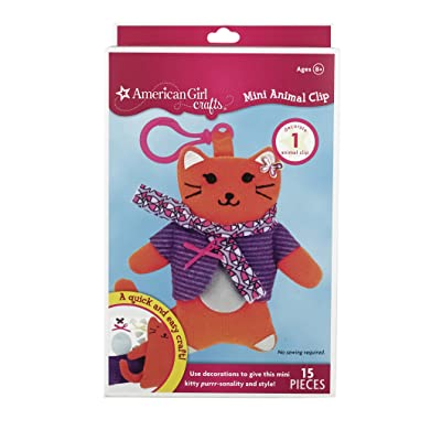 American Girl Crafts Mini Animal Clip, Cat: Arts, Crafts & Sewing