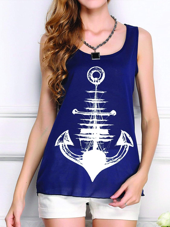 22783405a025c Amazon.com  Anchor Tank Top - Womens Anchor Tank Top - Anchor Shirt - Womens  Graphic Tank Tops - Beach Shirts for Women - Beach Shirts - Womens Graphic  Tank ...