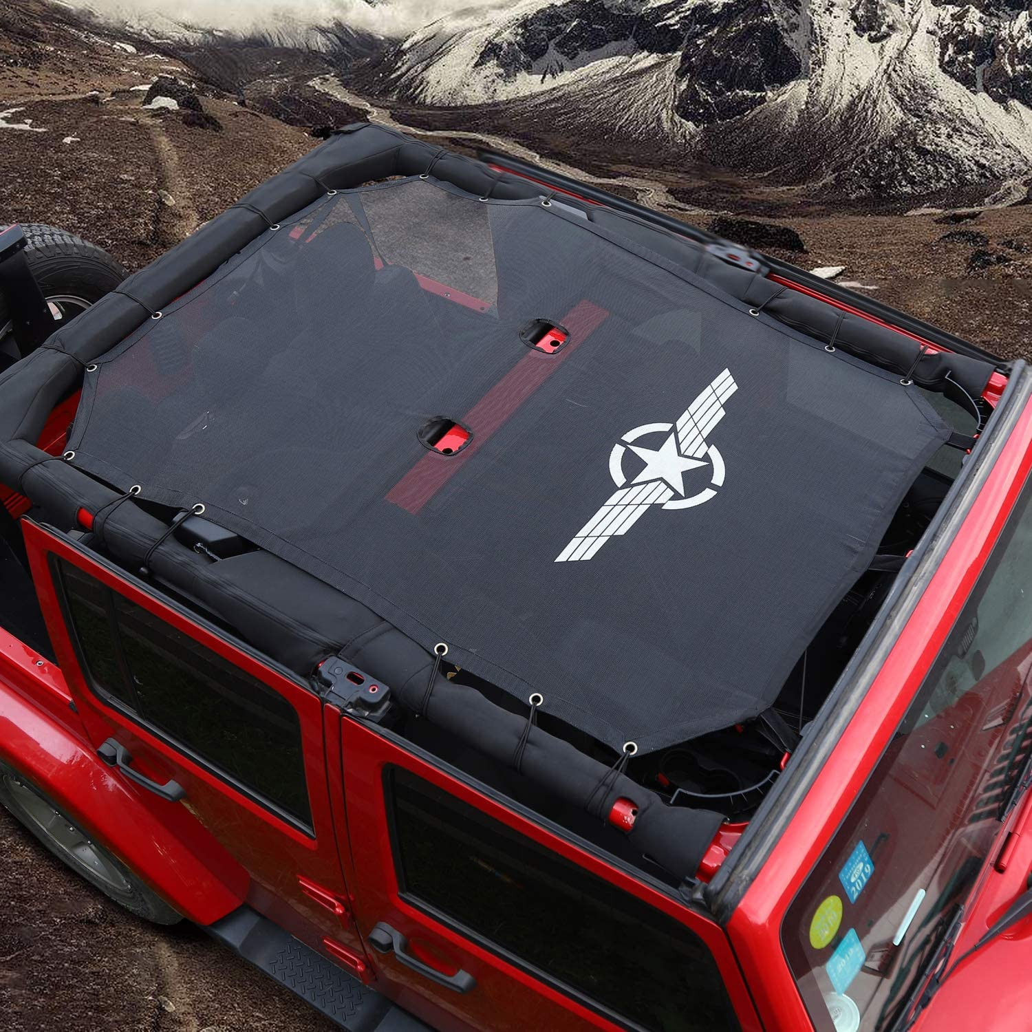 JeCar Mesh Sunshade Top Cover UV Wholesale Soft for Jeep Ranking TOP16 Wr Protection