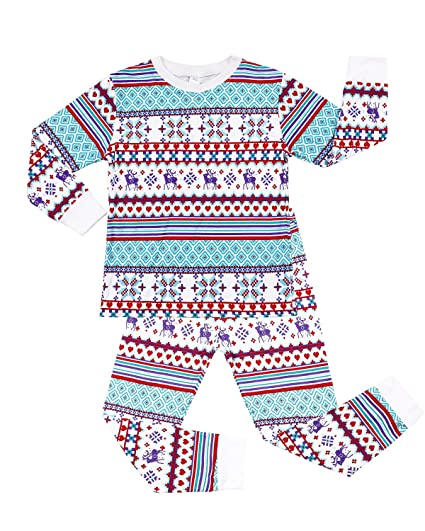 Amazon.com  ALove Kid Girls Christmas Pajamas Set Unisex Cotton Xmas ... 6daf32fda