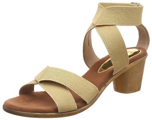 75a78363d4a Catwalk Women s Beige Block Heel Sandals Fashion  Buy Online at Low ...