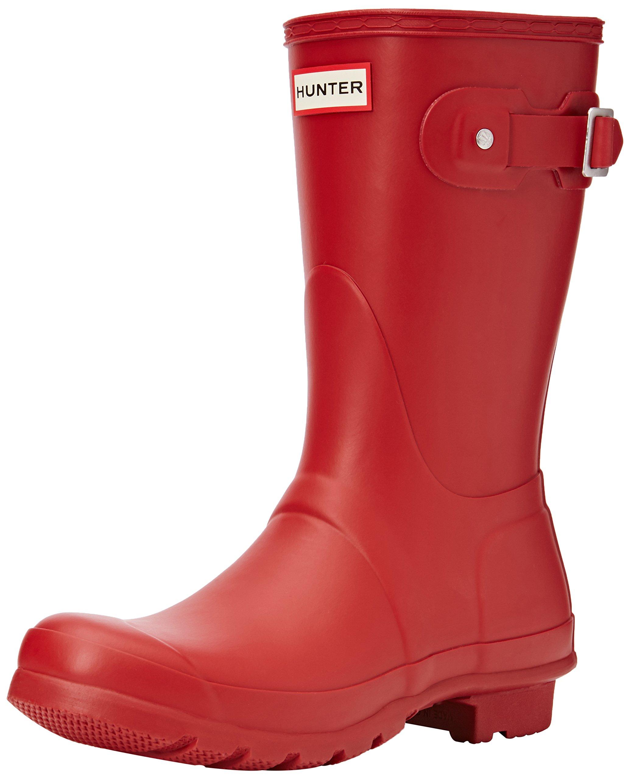 Hunter Womens Original Short Military Red Rain Boot - 8 B(M) US