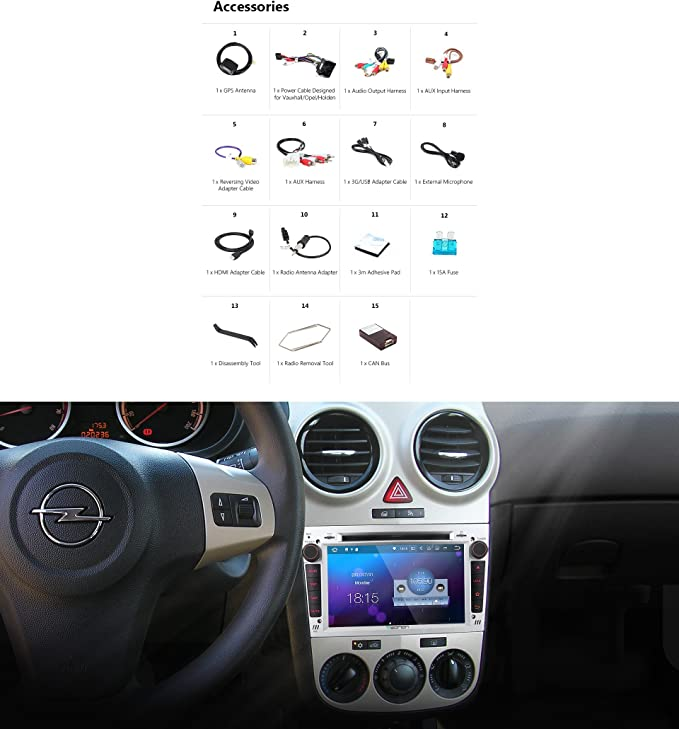Eonon Autoradio 7 Android 7 1 Auto Stereo Audio Radio Gps Silber Ga8155 Navigation
