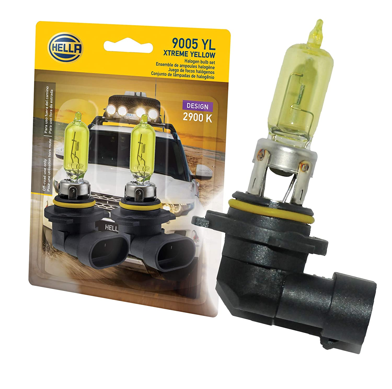 Optilux H71070582 XY Series HB3 9005 12V 65W Xenon Yellow Halogen Bulb Set