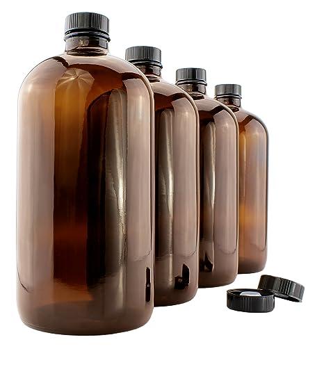 Amazon.com: 32-Ounce ámbar Kombucha Growler Botellas (4-Pack ...